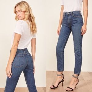 NEW Reformation Julia High Cigarette Skinny Jeans